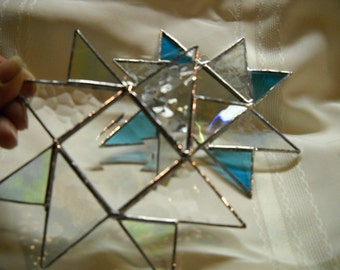 Decorating Stained Glass Stars You Get Two Suncatchers for Your Window