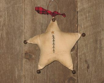 Primitive Star Christmas Ornament