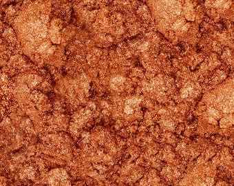 Copper Shimmer Mica 1-4 Oz, Copper Sparkle Mica, Copper Pearlized Mica , Cosmetic Supply, Makeup Supply
