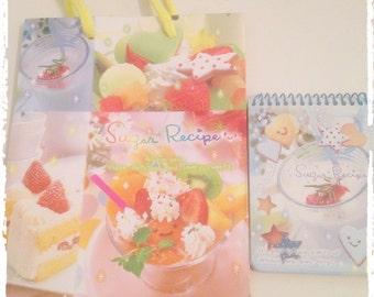 Sugar recipe kawaii food paper bag + notes vintage planner lot