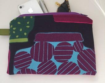 New! / marimekko zippered medium pouch //