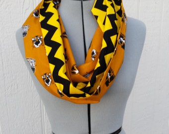 University of Missouri Infinity Cotton Scarf