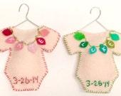 Custom Baby Onesie Ornament