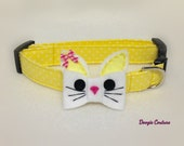 Bunnies And Bows Easter Dog Collar Size XS through Large by Doogie Couture Pet Boutique