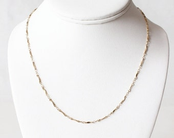 ON SALE Vintage Sarah Coventry Delicate Goldtone Chain Necklace