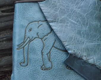 Elephant Handmade Leather Journal FREE Personalization