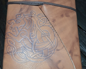 Celtic Horse Handmade Leather Journal FREE Personalization