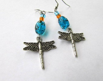 SALE!-Dragonfly Drop Earrings