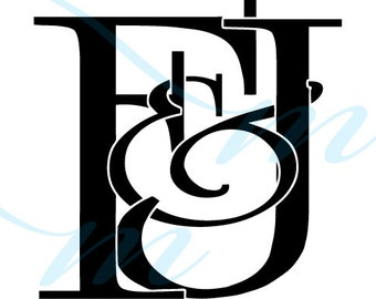 SALE - F VARIATIONS - Intertwining Ampersand Monogram