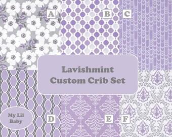 5 Piece Baby Girl Crib Set Camelot Fabrics Lavishmint Collection Baby Bedding Set