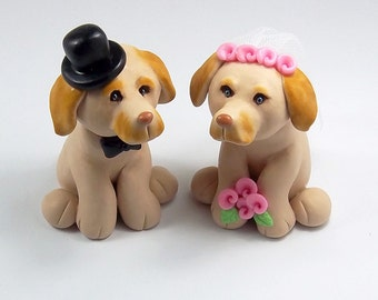 Labrador Cake Topper, Pet Cake Topper, Dog Figurine, Wedding Cake Topper, Customized figurine, Cute Cake Topper, Handmade Figurine