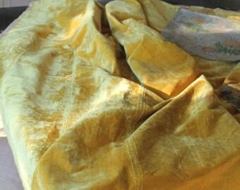 18th c Yellow Italian Silk Velvet Panel