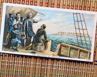 Ayer's Sasparilla Advertising Card--The Discovery of America (r)