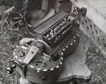 Vintage Photograph:  Hurdy Gurdy, c1940