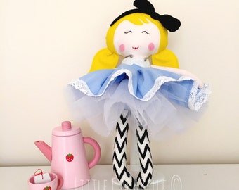 Rag doll Dolly Alice in Wonderland Custom Handmade Doll CE marked Perfect for playtime