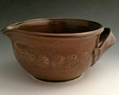 Mixing Bowl / Batter Bowl/ Spouted Pouring Bowl/ Hand Made Stoneware