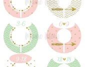 HUGE SALE DIY 6 Closet Dividers Organizers Baby Girl Shower Gift Nursery Decor Mint Pink Blush Gold Arrow Heart Chevron Dots Tribal Baby Clo