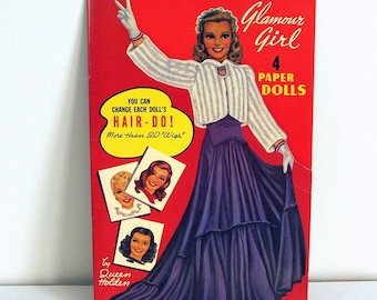 Paper Doll Book, Glamour Girl by Queen Holden, Uncut