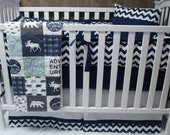 Baby Boy Nursery Bedding , Crib Set , Woodland , Moose  , Bear , Buck , Arrow , Buck Forest , Baby Bedding , Crib Bedding , Babylooms