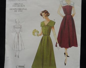 Retro 1950s Vogue Dress Pattern Uncut size 16-18-20-22