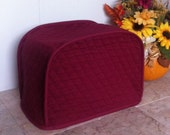 Burgundy 2 Slice Toaster Cover Ready To Ship