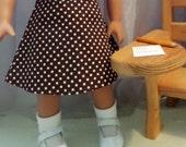 18 Inch Doll Clothes / Doll Skirt / Polka Dot Doll Skirt / Doll Clothes / Doll Clothing / Doll Accessories / Fits American Girl Doll - 2037