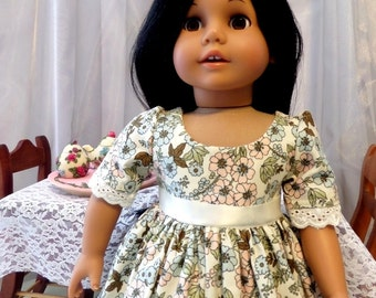 18 Inch Doll Clothes / Doll Dress / Dress / Doll Clothes /  Doll Clothing / Doll Accessories / Fits American Girl Doll - 1023