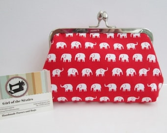 SALE Elephants Clutch / Beauty Bag