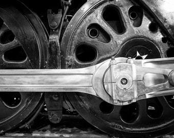 Locomotive Photo Train Vintage Photo Engine Photography Black White Man Cave Gift For Men Masculine For Guys #vin3