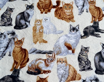 Vintage Fabric - Cats Best in Show - 42 x 36