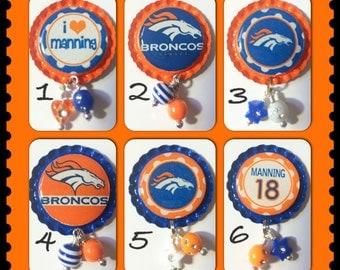 TOP Only**Denver Broncos Badge Reel Tops  *PICK one*