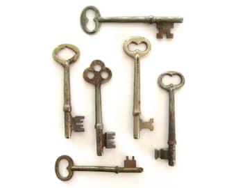 6 Vintage skeleton keys Old skeleton keys Vintage keys Key collection Authentic collection Real keys Skelton keys Authentic old keys bit 6