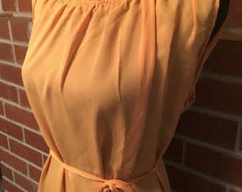 Vintage mustard yellow plus size dress