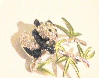 Darling Panda Crystal Brooch