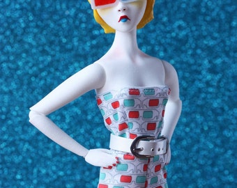 Mary Magpie Ball Jointed strung articulated POP art doll 3D