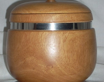 Mid Century Mango Humidor Tobacco Jar