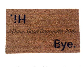 BLOCK Hi Bye ,novelty Welcome doormat