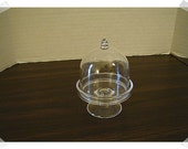 Miniature Clear Plastic Cake Stand/Single OR Set of 2/ Minis/ Craft Supplies*