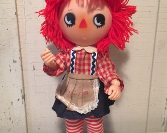 Vintage 1975 poseable Raggedy Ann Doll-Bobbs Merrill co-Nasco-RARE