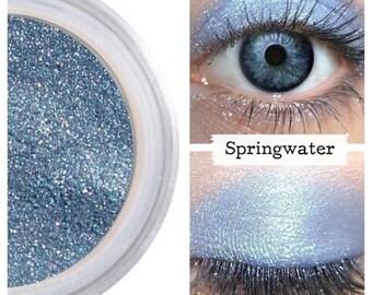 Periwinkle Eyeshadow, Mineral Eye Color, Natural Makeup, Sensitive Eyes, No Toxic Make Up, Loose Shimmer, Eyeliner Eye Liner, SPRINGWATER