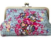 Clutch purse, Meadow Aroma Splash,  Christmas, bridesmaid, wedding, birthday, summer clutch, bridal party gift