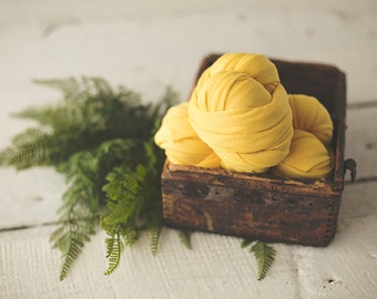 Newborn Wrap - Baby Wrap - Stretch knit wrap - Photography Prop -DANDELION Yellow - Plush Weave Knit Wrap