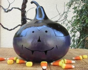 Halloween Gourd Vampire Jack O Lantern Primitive Pumpkin Decoration