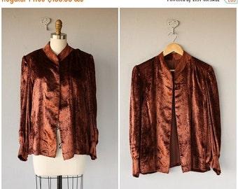 25% OFF SALE... Vintage Nolan Miller Jacket | 1980s does 1940s Silk Velvet Jacket | 80s does 40s Jacket | 1940s Velvet Jacket | 40s Vintage
