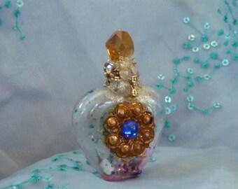 Spell Bottle, Home Decor, Pagan Art, Altered Bottle, Positive Energy Bottle