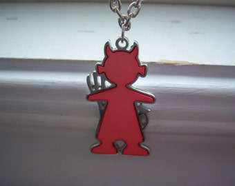 Devil Necklace - Little Devil Necklace - Pink Devil Necklace - Free Gift With Purchase