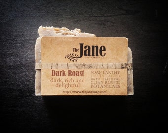 Dark Roast Old Fashioned Hot Process Handmade Soap // Dye & Fragrance Free - Vegan Friendly!