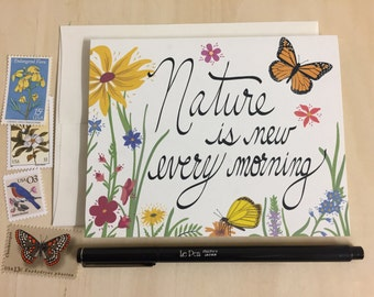 Nature is New Every Morning Notecards - Set of 2