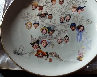 """Norman Rockwell's """"A Family Tree"""" plate"""