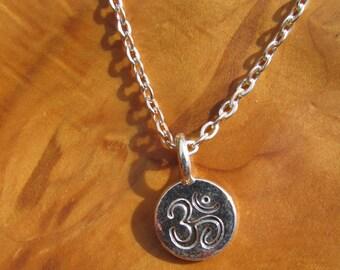 Karma, Om, Ohm necklace - Buddha, Buddhism, Yoga Jewelry, Namaste